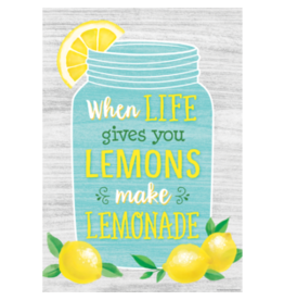 When Life Gives You Lemons Make Lemonade Positive Poster