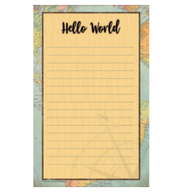 Travel the Map Notepads