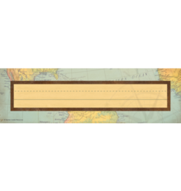 Travel the Map Flat Nameplates