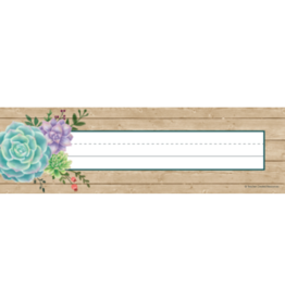 Rustic Bloom Flat Name Plates