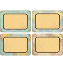 Travel the Map Name Tags/Labels Multi-Pack