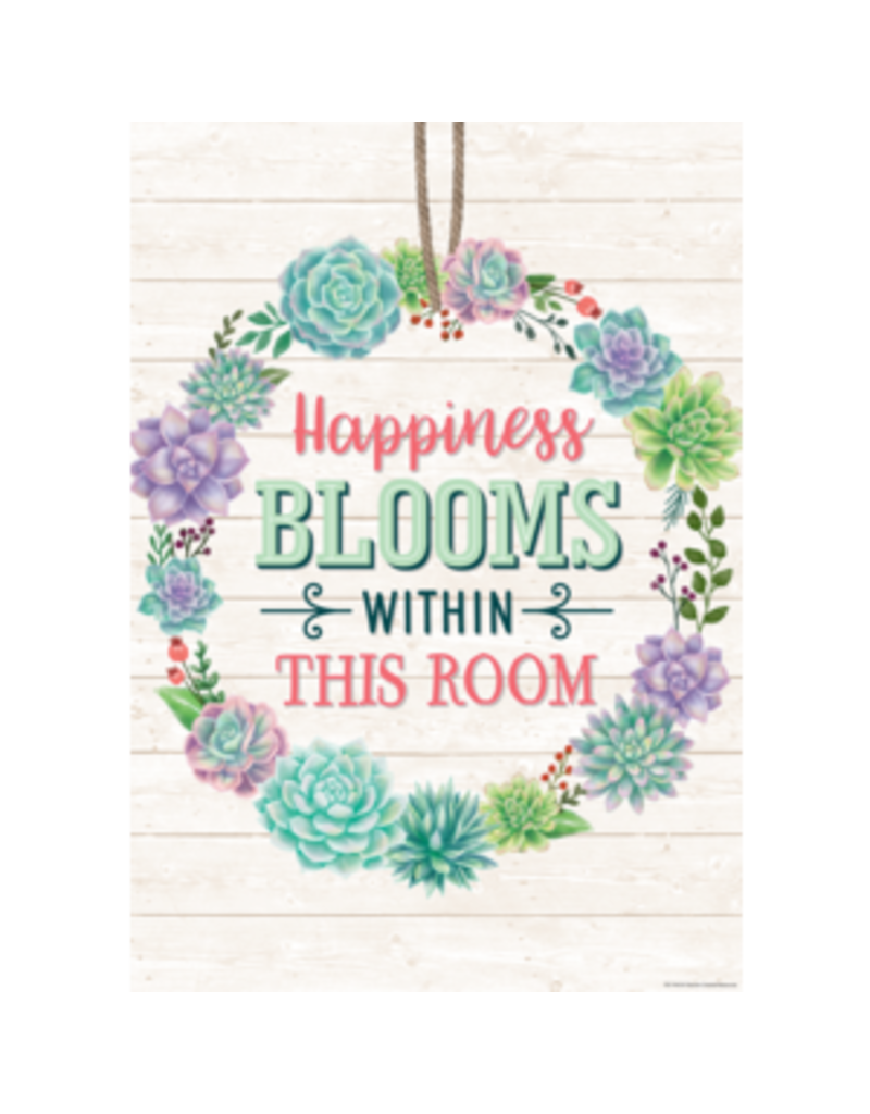 Happiness Blooms Within Poster