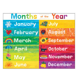 World of Eric Carle Months of the Year Chart