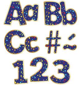 """Sparkle & Shine Rainbow Confetti 4"""" EZ Letters"""