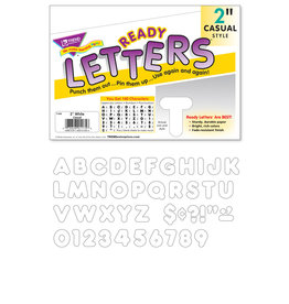 White Ready Letters Casual Style 2""