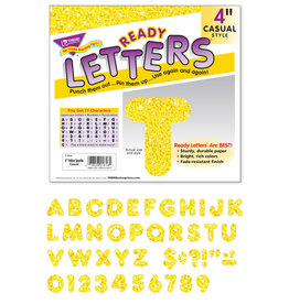 "4"" Yellow Sparkle Casual Letters"