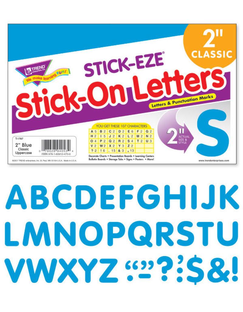 "Blue Stick-Eze Stick-On Classic Letters 2"""