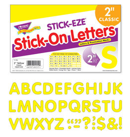 """2"""" Yellow Classic Uppercase Stick-On Letters"""