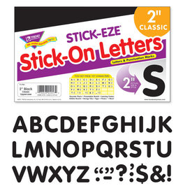 """2"""" Black Classic Uppercase Stick-On Letters"""