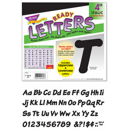 "Black 4"" Italic Combo Letters"