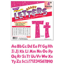 "Hot Pink Sparkle 4"" Playful Combo Letters"
