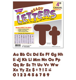 Brown Ready Letters Casual 4""
