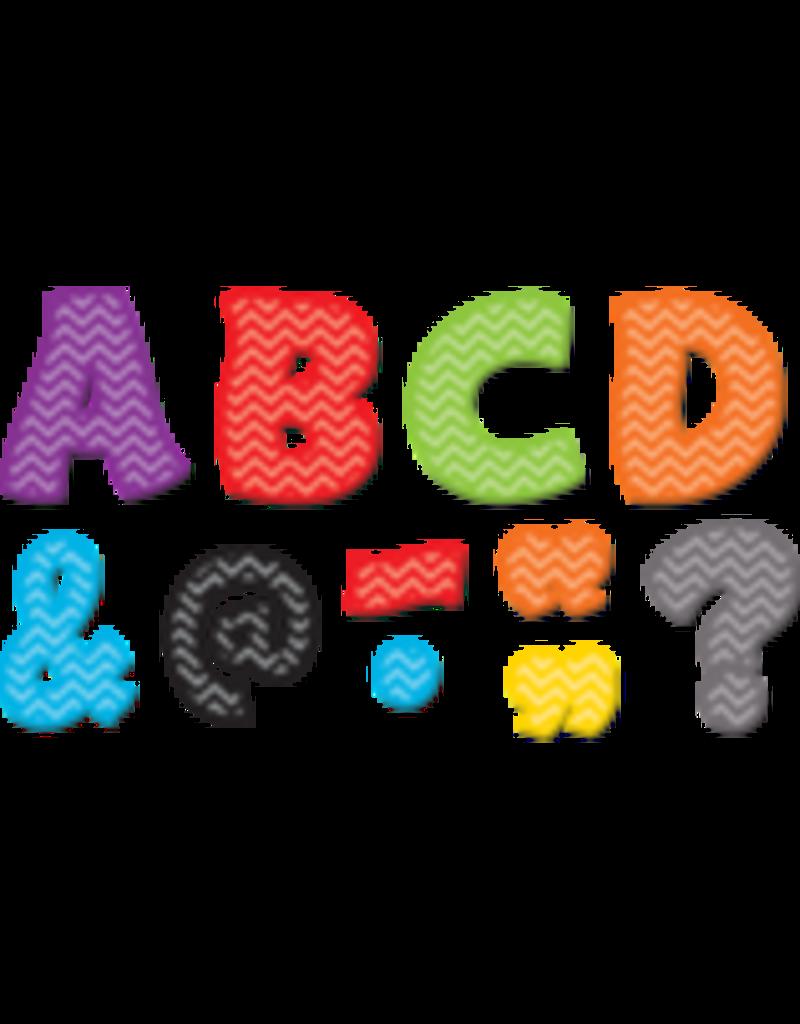 "Chevron Funtastic Font 3"" Magnetic Letters"