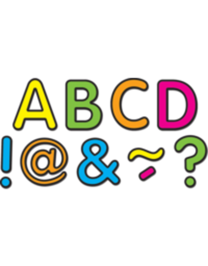 """Neon Brights Classic 2"""" Magnetic Letters"""