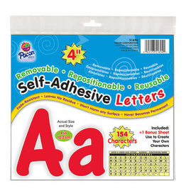 """Red 4"""" Self-Adhesive Letters"""