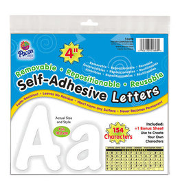 "White 4"" Self-Adhesive Letters"