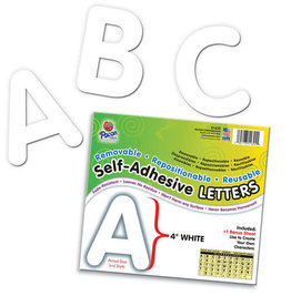 """White4"""" Uppercase Self-Adhesive Letters"""
