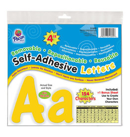 "Yellow 4"" Self Adhesive Mixed Letters"