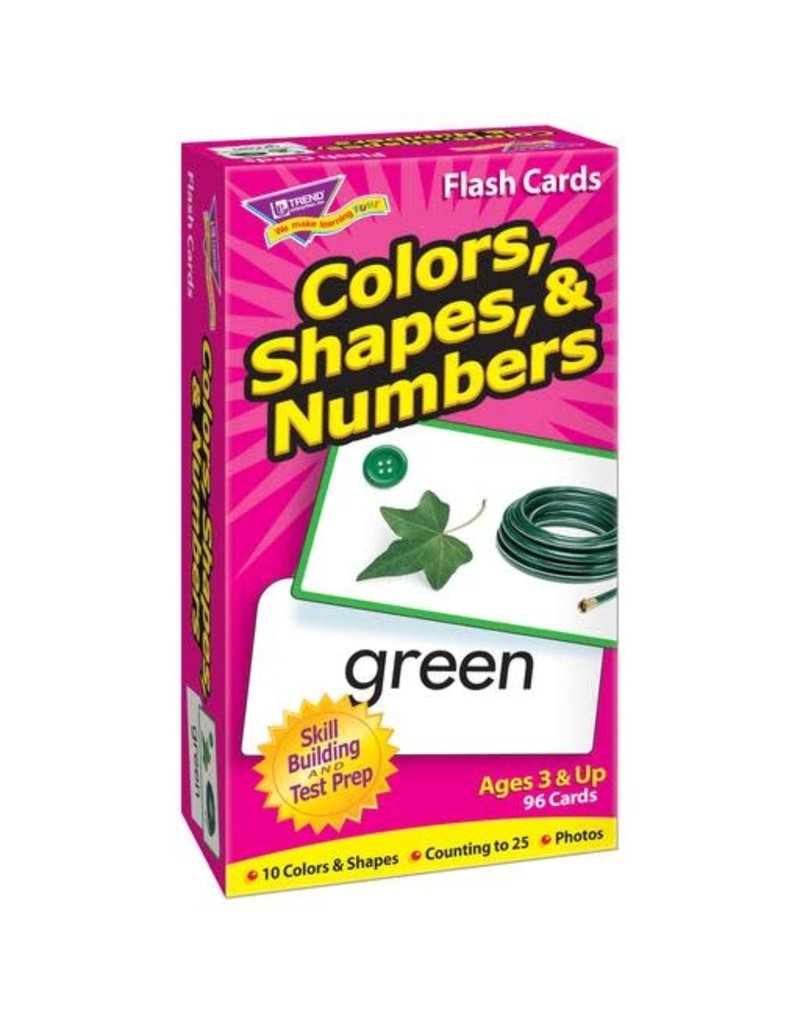 Color, Shapes, & Numbers Flashcards
