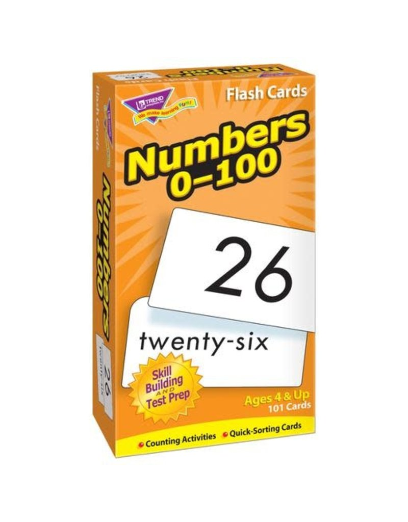 Numbers 0-100 flashcards