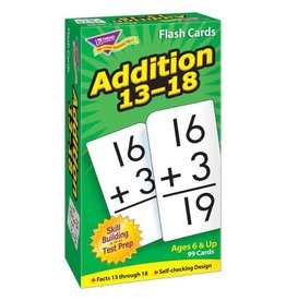 Addition 13-18 flashcards