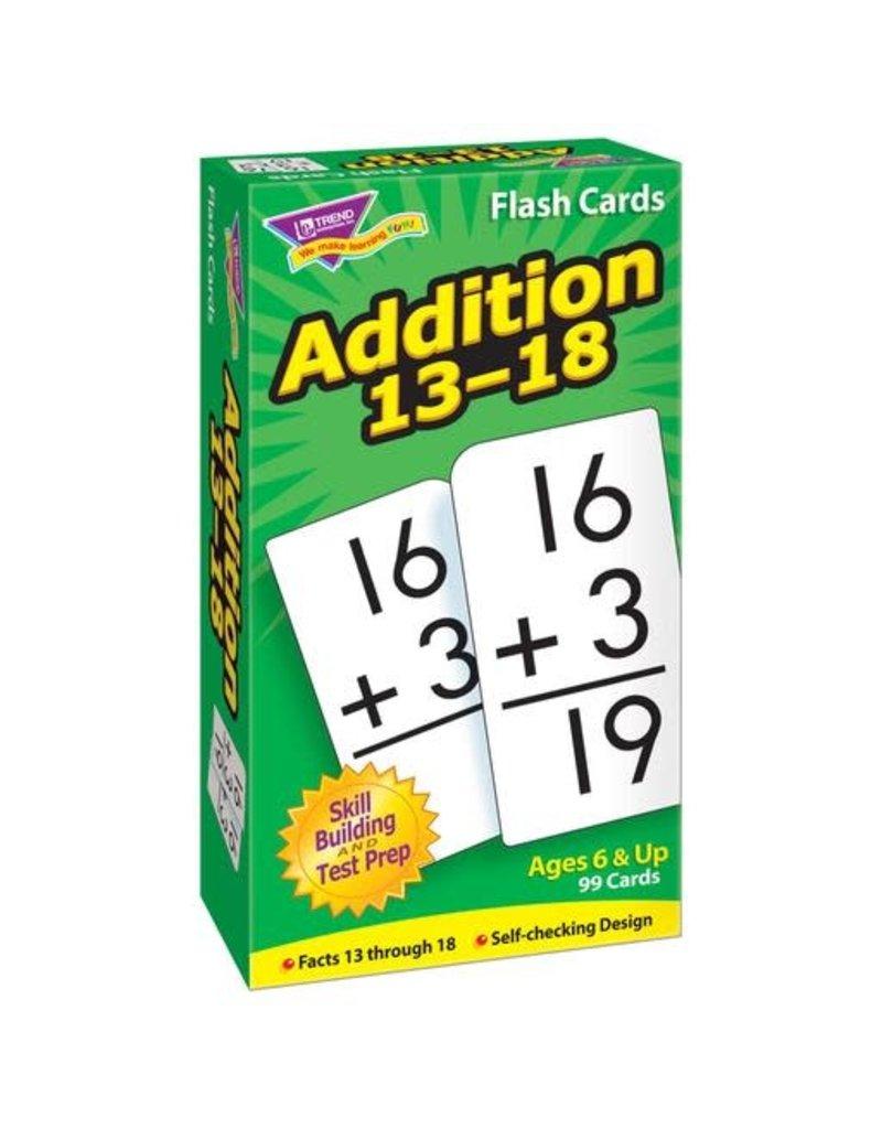 Addition 13-18 flashcards