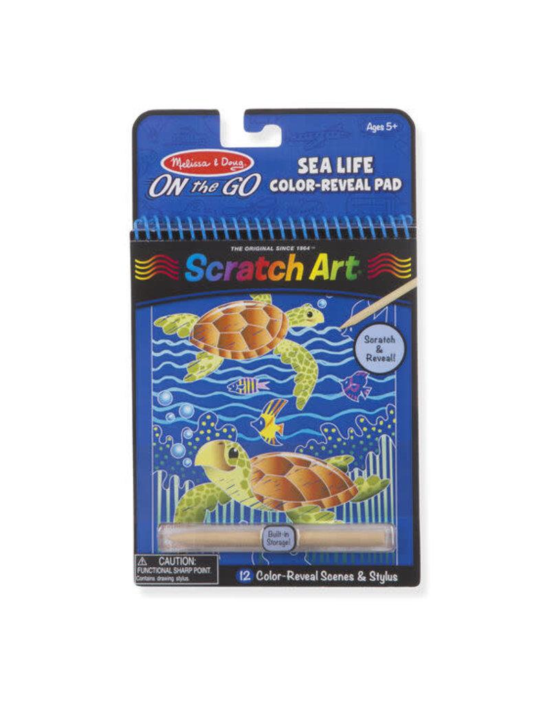 Sea Life Scratch Art