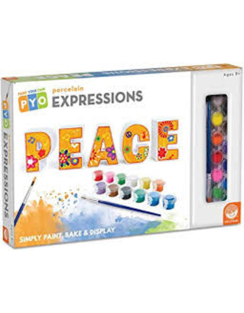 Paint Your Own Porcelain Expressions: Peace
