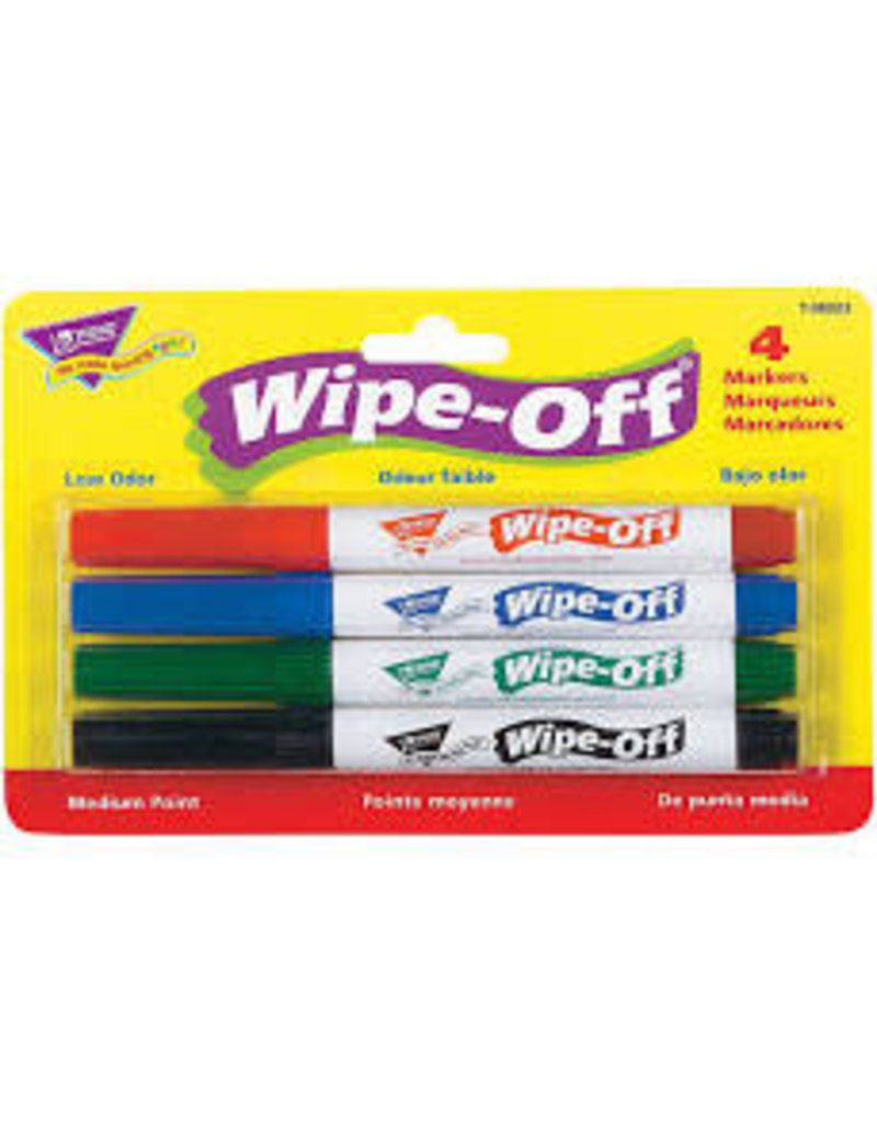 4-Pack Standard Colors wipe off markers