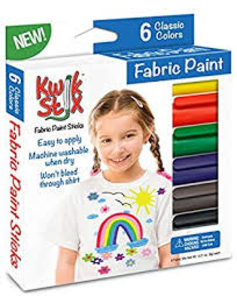 Kwik Stix Fabric Paint 6 Classic Colors