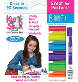 Kwik Stix Tempera Paint 6gm Thin Neon 6 Color Sets