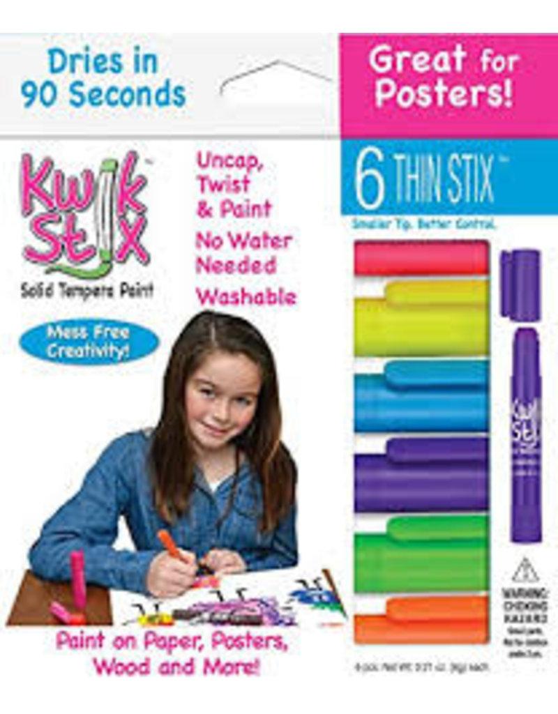 Kwik Stix Tempera Paint 6gm Thin Neon 6 Color Sets