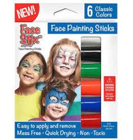 Kwik Stix Face Painting Sticks 6 Color Set