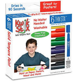 Kwik Stix Tempera Paint 6gm Thin Primary 6 Color Sets