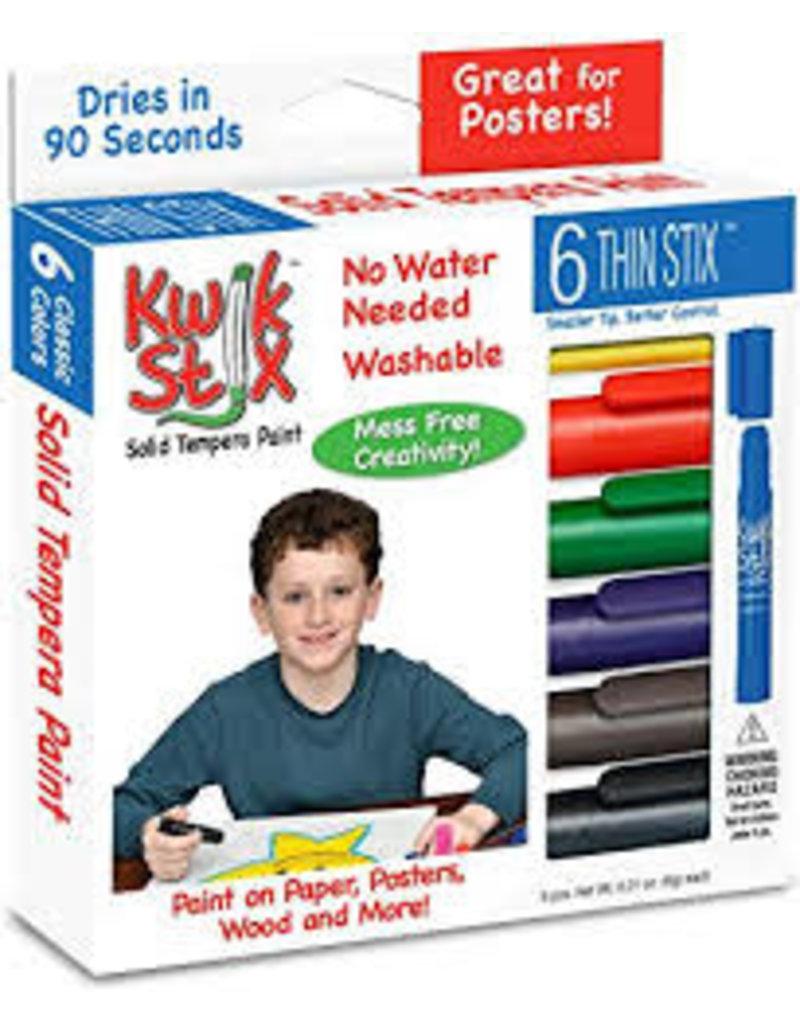 Kwik Stix Tempera Paint 6gm Thin Primary 6 Color Sets