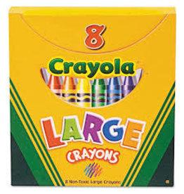 8 ct. Large Crayons  Tuck Box