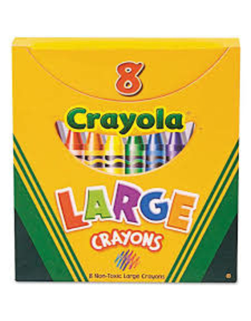 8 ct. Large Crayons  Tuck Box