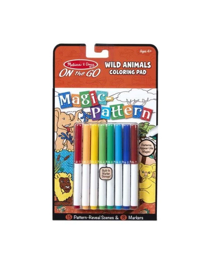 Magic Pattern Coloring Pad - Wild Animals