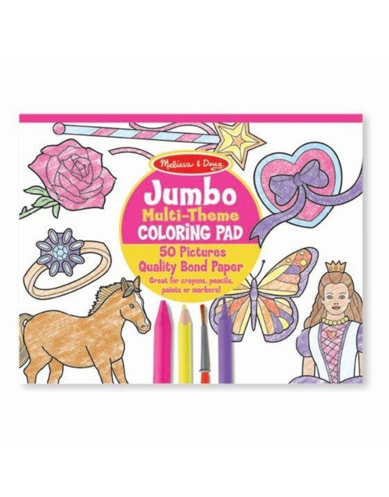 "Jumbo Coloring Pad - Pink (11"" x 14"")"