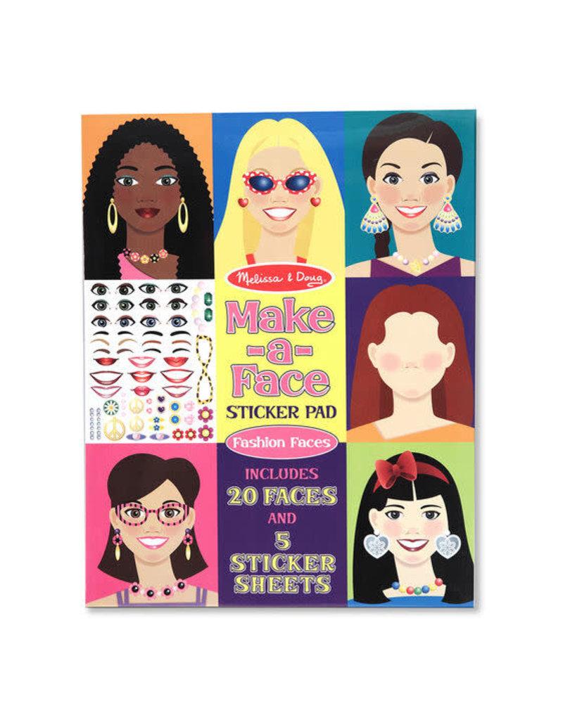 Make-a-Face Fashion Faces Sticker