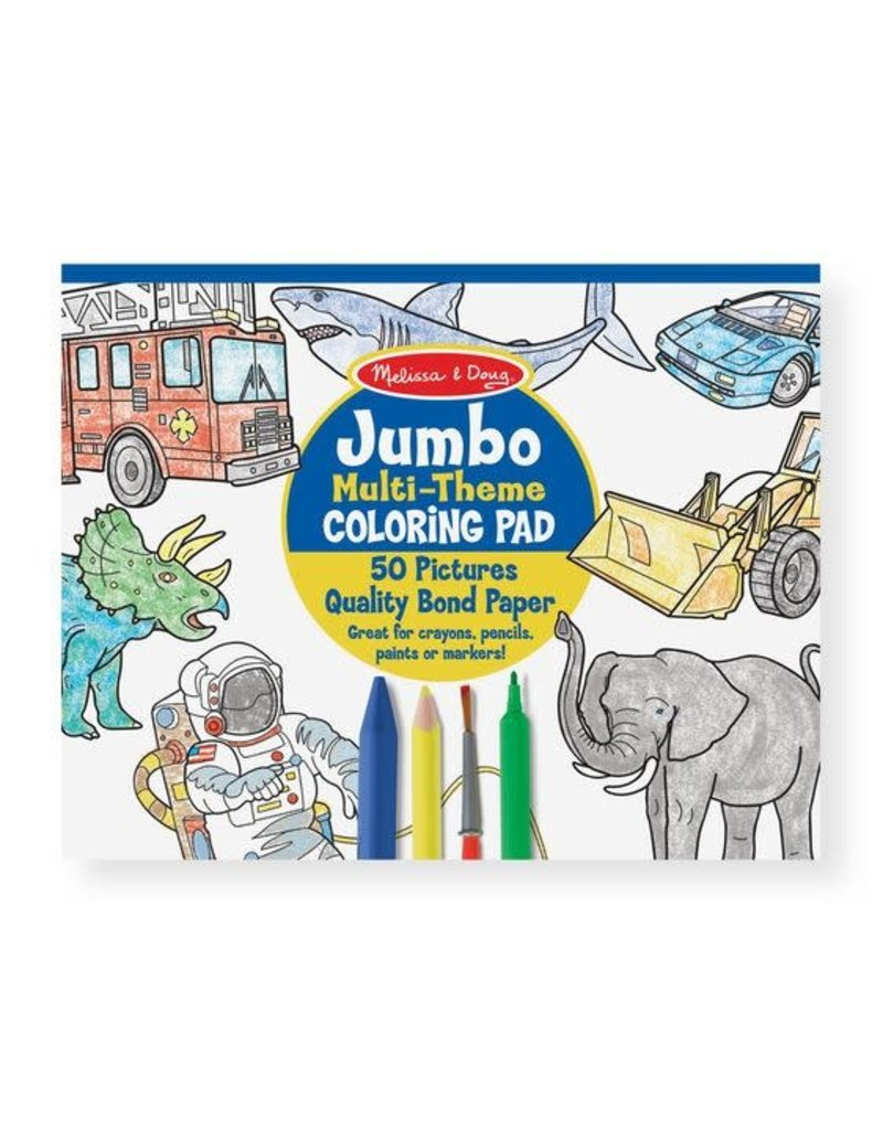 Jumbo multi theme coloring pad