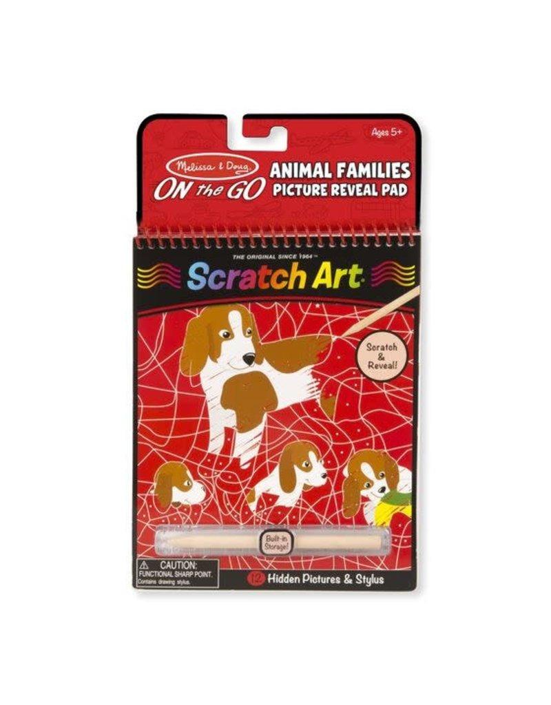 Scratch Art Animal Families