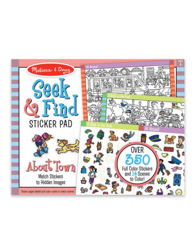 Seek & Find Around Town Sticker Pad