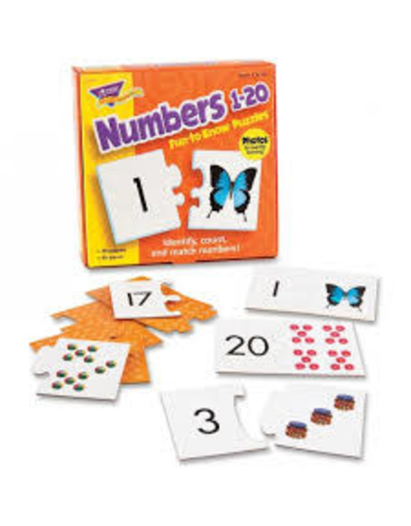 Numbers 1-20 Fun to Know PUzzles