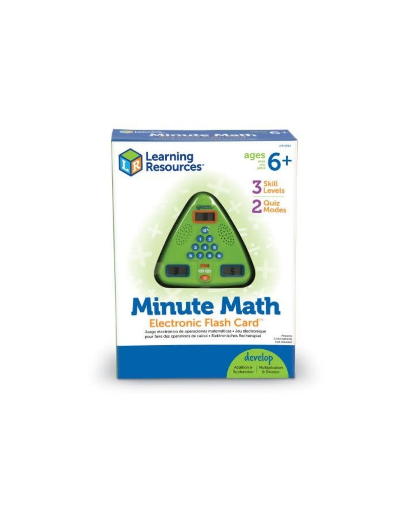 MINUTE MATH ELECTRONIC FLASH CARD(TM)