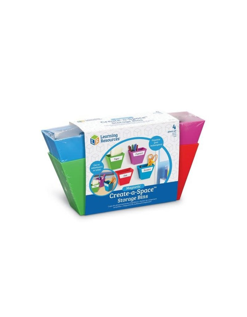 CREATE-A-SPACE (TM) MAGNETIC STORAGE BIN