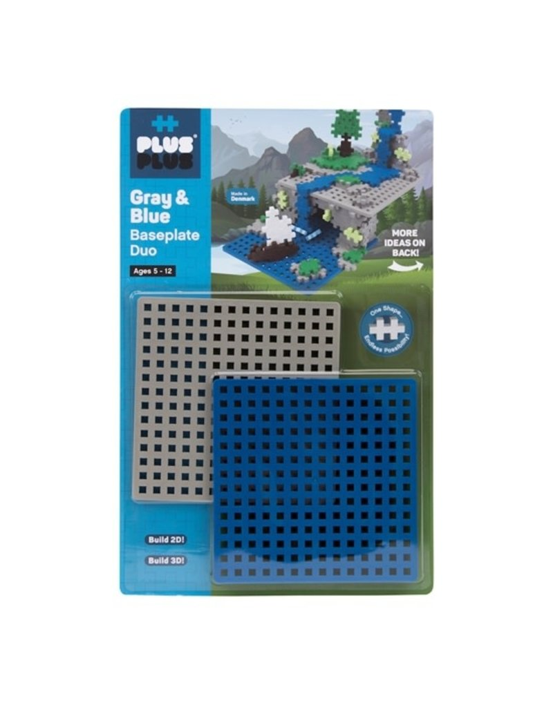 Plus-Plus-Baseplate Duo-Gray and Blue