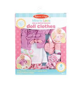 Mix & Match Fashion Doll Clothes -Pink/Purple