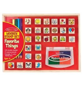 Wooden Favorite Things Stamp Set