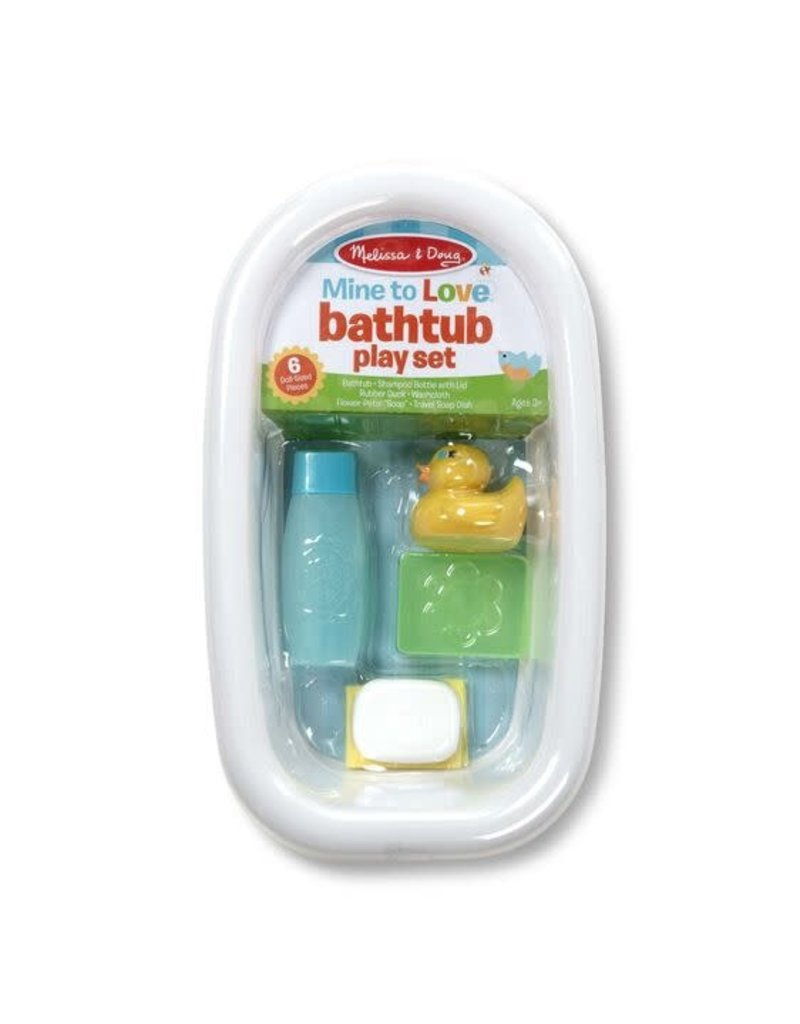Mine to Love Bathtub Play Set - White